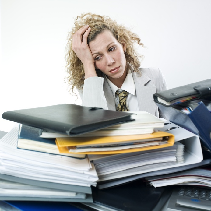 Overworked - no Laserfiche Document Management System