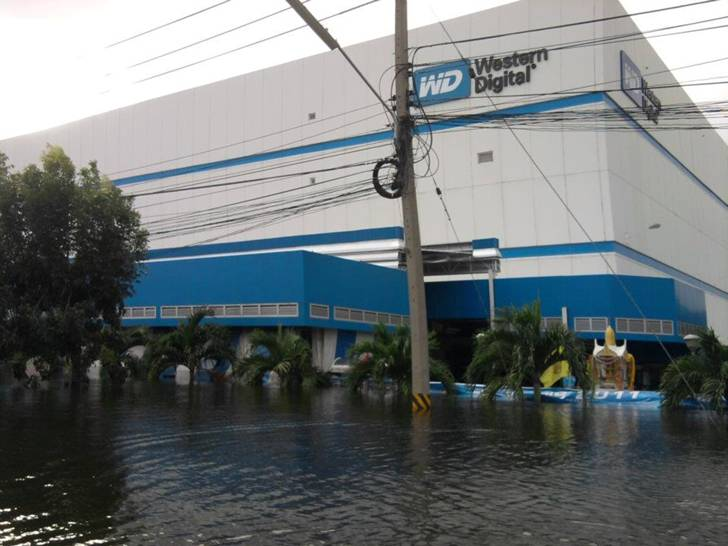Flood effects Hard Drive prices