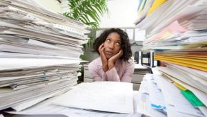 ecm reduces paper clutter